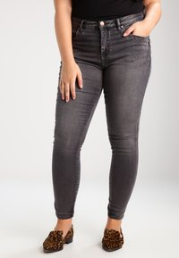 Zizzi - AMY LONG - Jeans Skinny Fit - dark grey denim - 0