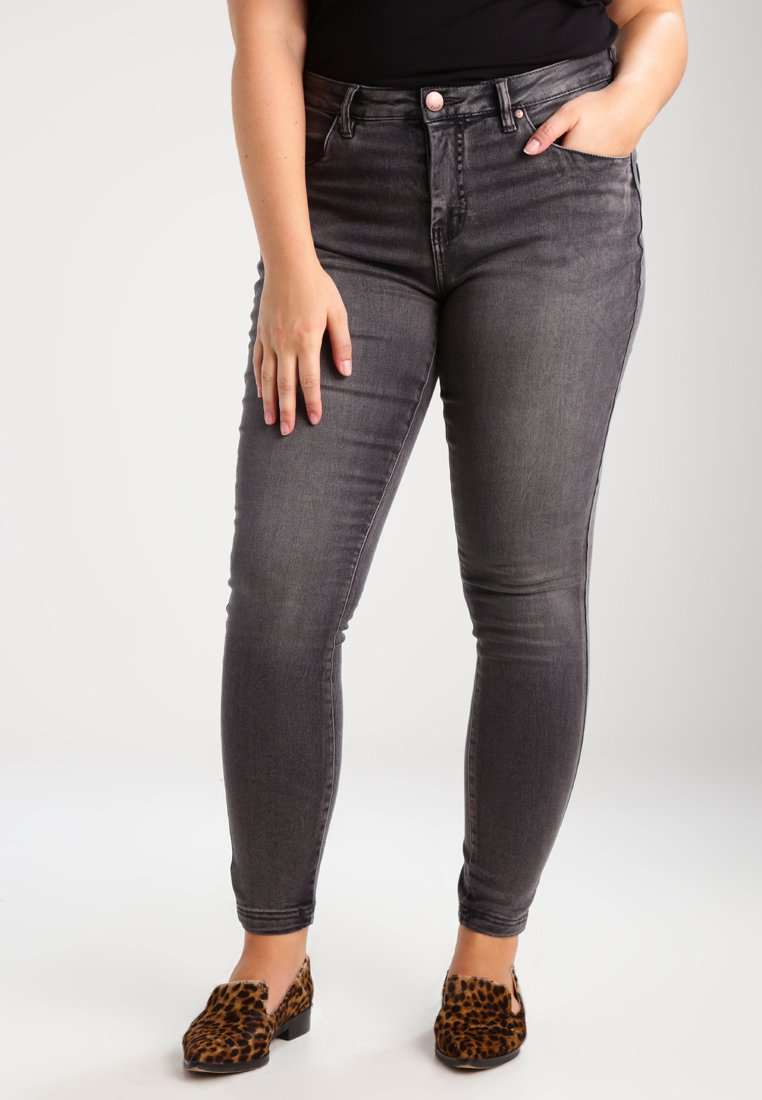 Zizzi - AMY LONG - Jeans Skinny Fit - dark grey denim