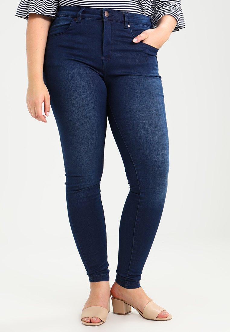 Zizzi - AMY LONG - Jeans Skinny Fit - blue denim