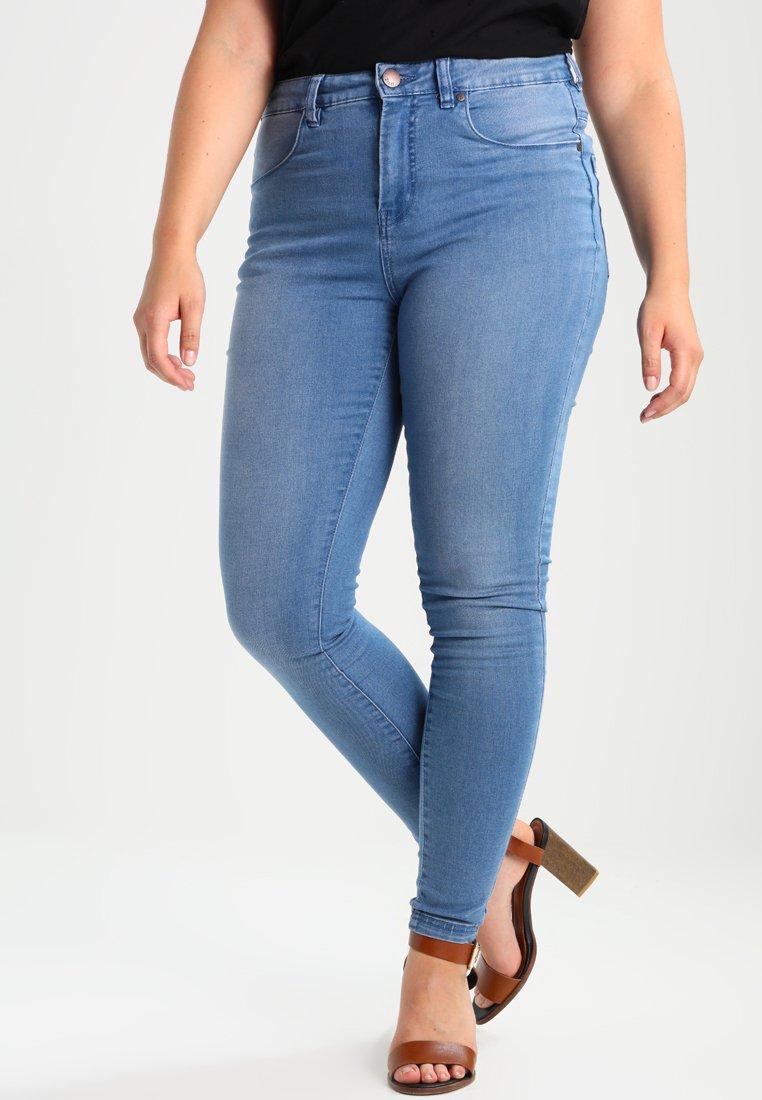 Zizzi - AMY LONG - Skinny džíny - light blue