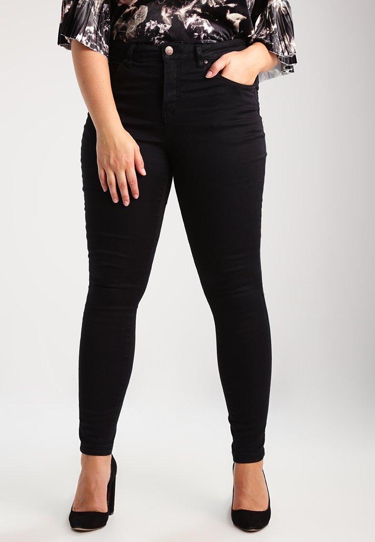 Zizzi - AMY LONG - Jeansy Skinny Fit - black
