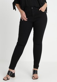 Zizzi - LONG AMY - Slim fit jeans - black - 0