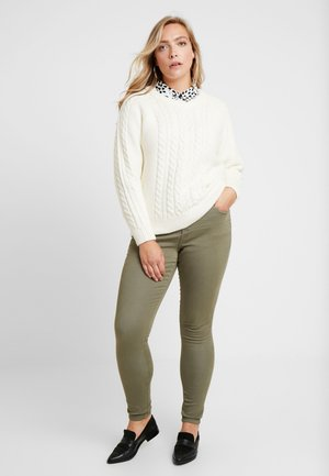 LONG AMY SUPER - Jeans Skinny Fit - dusty olive
