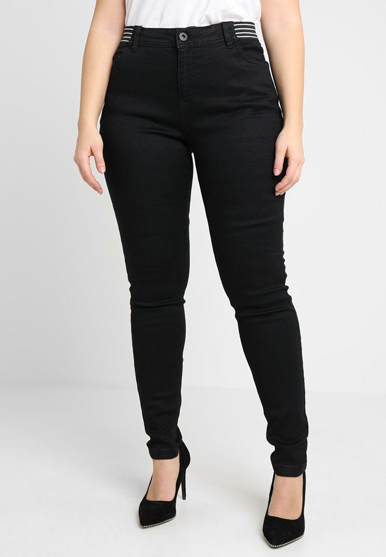 Zizzi - LONG, AMY, SUPER SLIM - Jeans Skinny Fit - black