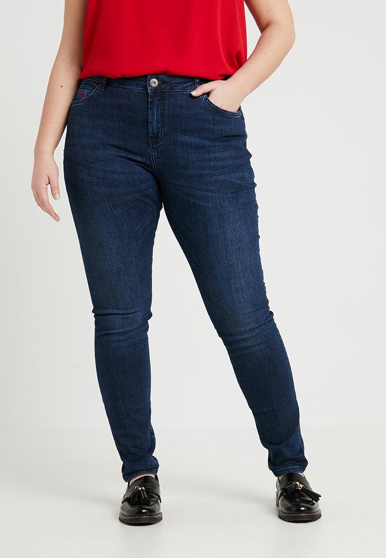 Zizzi - LONG NILLE - Jeans Skinny Fit - dark blue denim