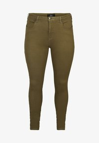 Zizzi - SUPER SLIM - Jeans Skinny Fit - green - 2
