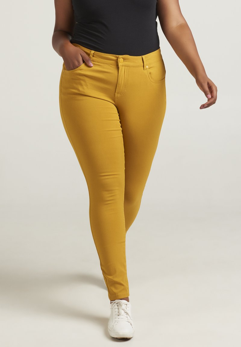 Zizzi - Jeans Skinny Fit - curry yellow