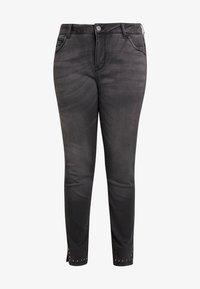 Zizzi - CROPPED SALLY - Jeans Skinny Fit - dark grey denim - 3