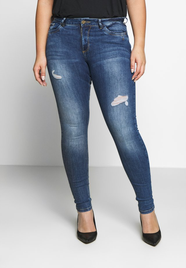 AMY - Jeans slim fit - dark blue denim