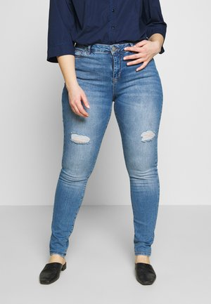 LONG AMY - Džíny Slim Fit - blue denim