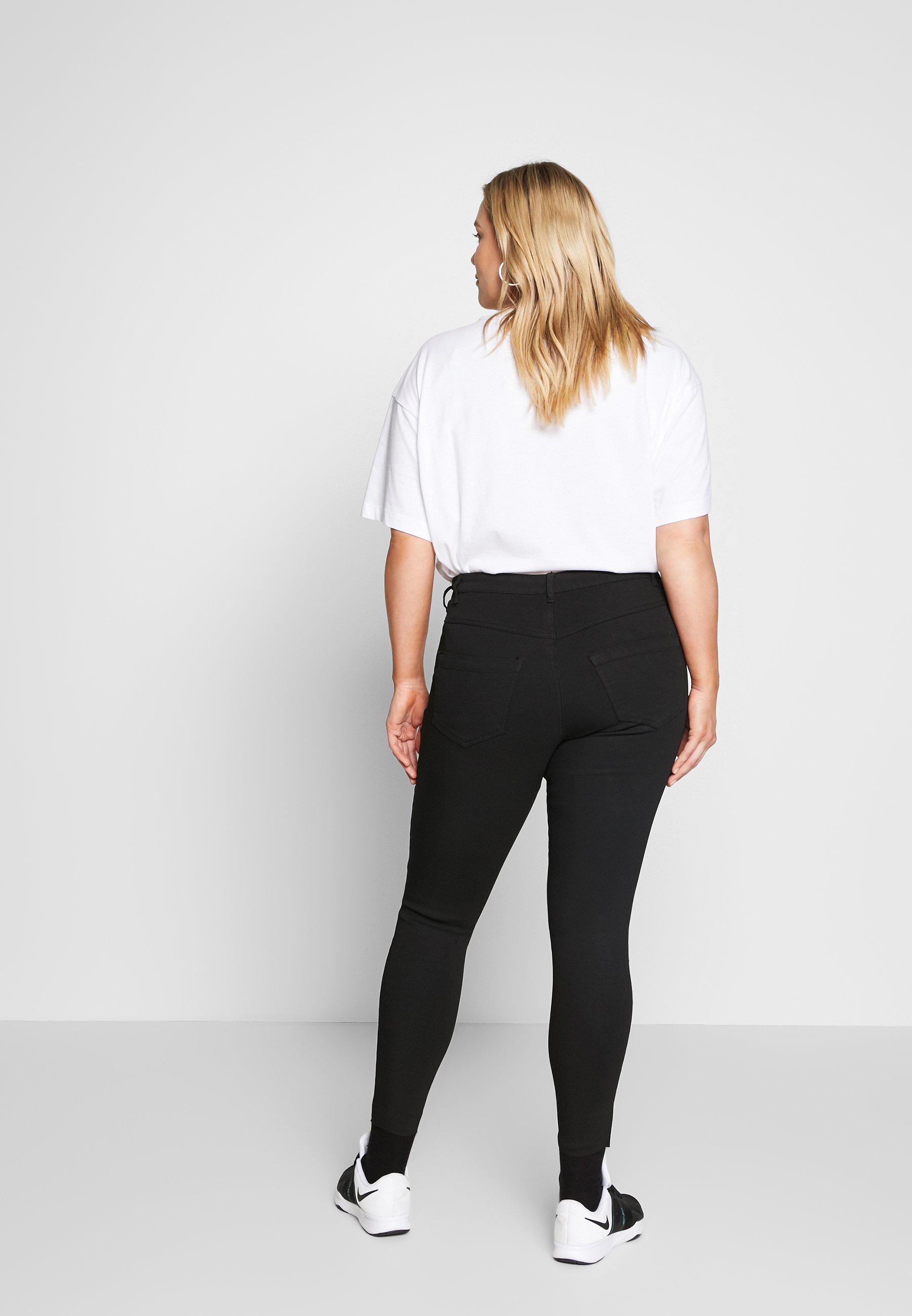Zizzi AMY - Jeansy Skinny Fit - black