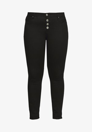 AMY BUTTON DETAIL - Jeans Skinny - black denim