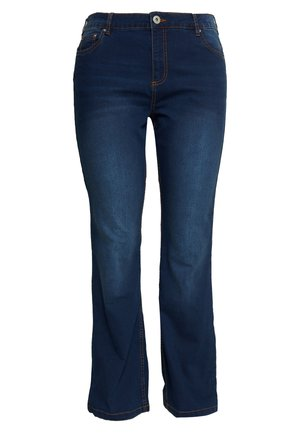 ANNA - Jeans bootcut - blue denim