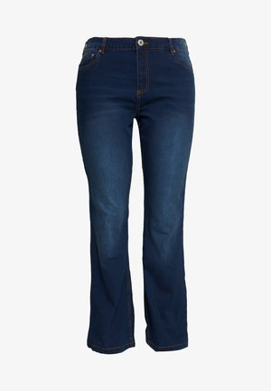ANNA - Jeans bootcut - blue denim