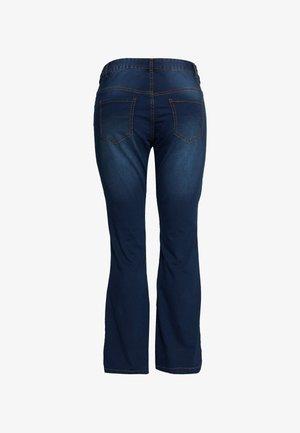 ANNA - Bootcut jeans - blue denim