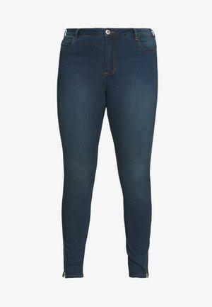 AMY  WITH ZIP DETAIL - Jeans Skinny - blue denim