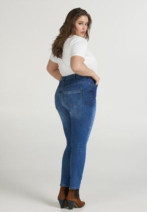 NILLE - Slim fit jeans - dark blue