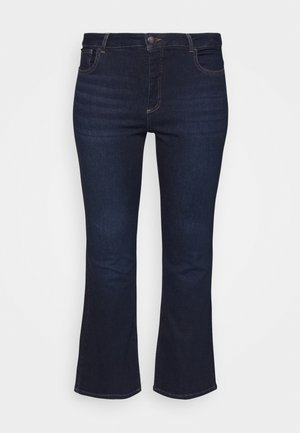 JPOSH LONG ELLEN  - Bootcut jeans - dark blue denim