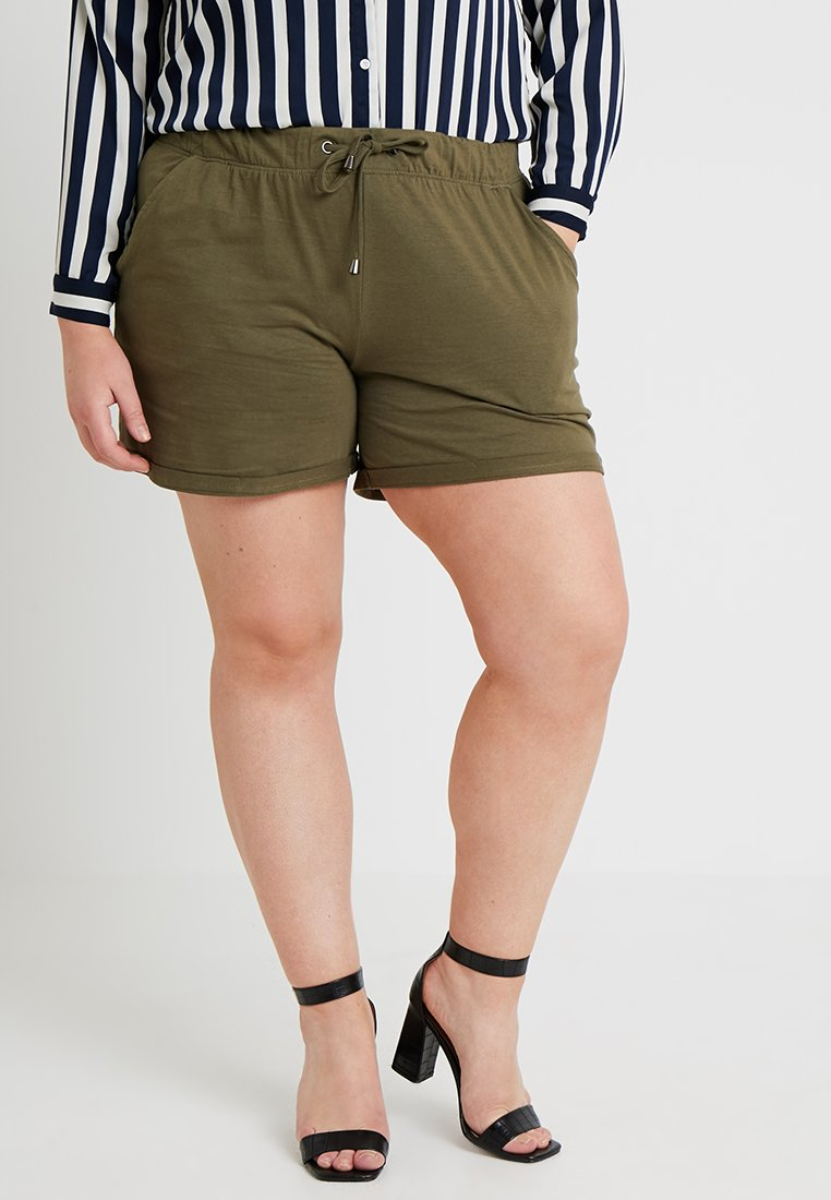 Zizzi - Shorts - ivy green