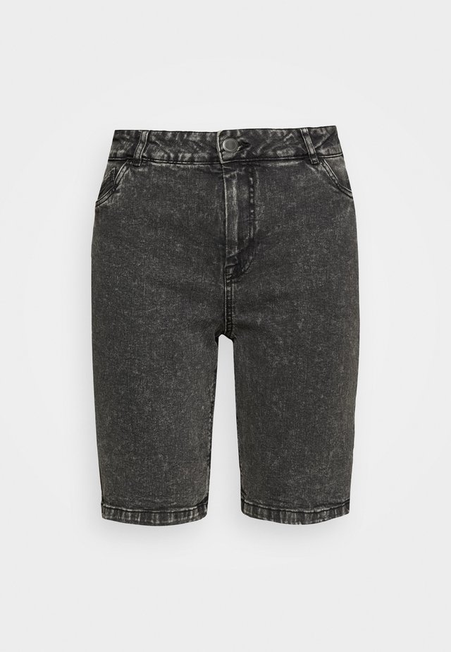 JALBA HIGH WAIST - Jeansshorts - grey denim