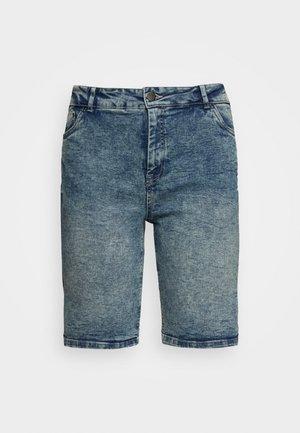 JALBA HIGH WAIST - Denim shorts - blue