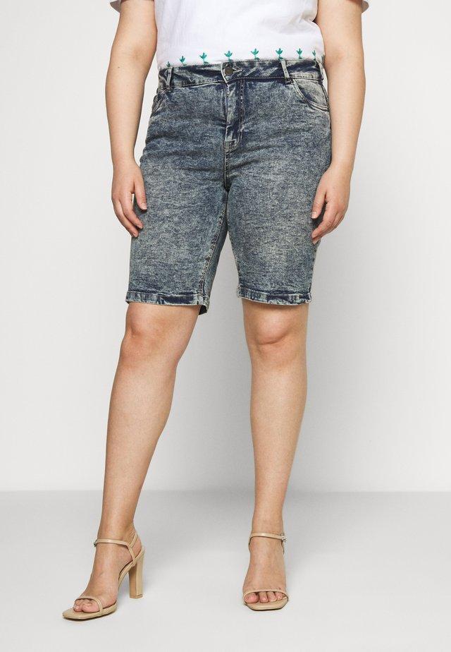 JALBA HIGH WAIST - Jeans Shorts - blue