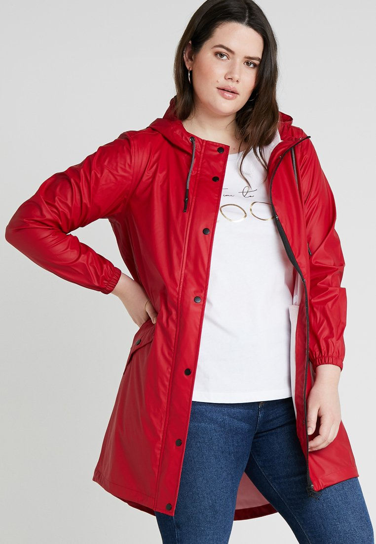 Zizzi - RAINCOAT - Parkas - red