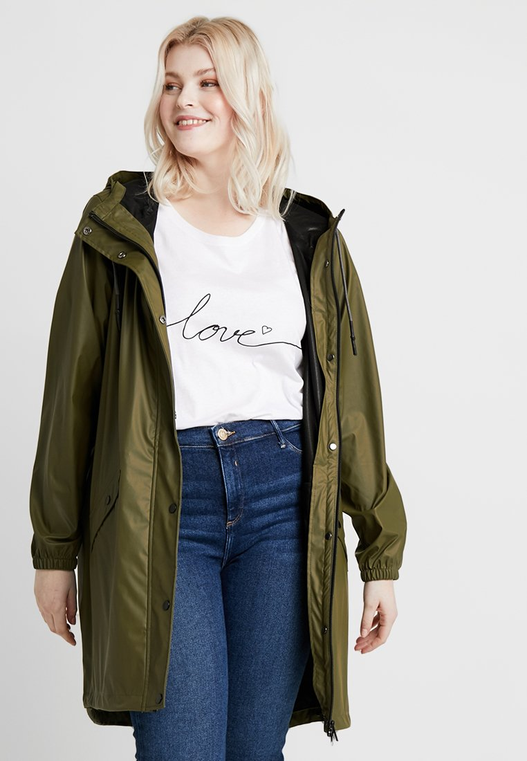 Zizzi - RAINCOAT - Parkas - dark olive