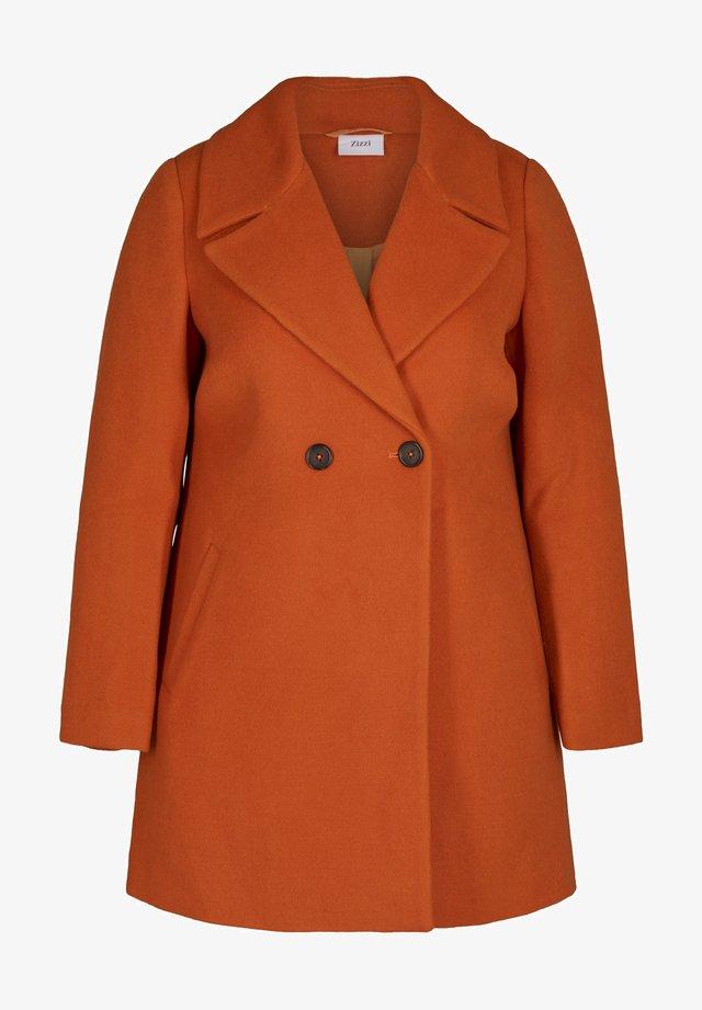 Krátký kabát - dark orange