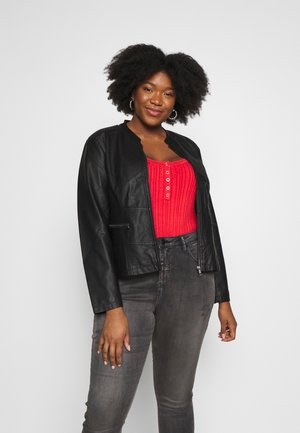 MALLIE JACKET - Faux leather jacket - black