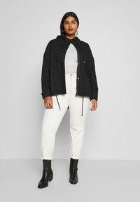 Zizzi - MCAMMA JACKET - Summer jacket - black - 1