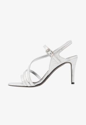 MARYLIN METALIC - High heeled sandals - silver