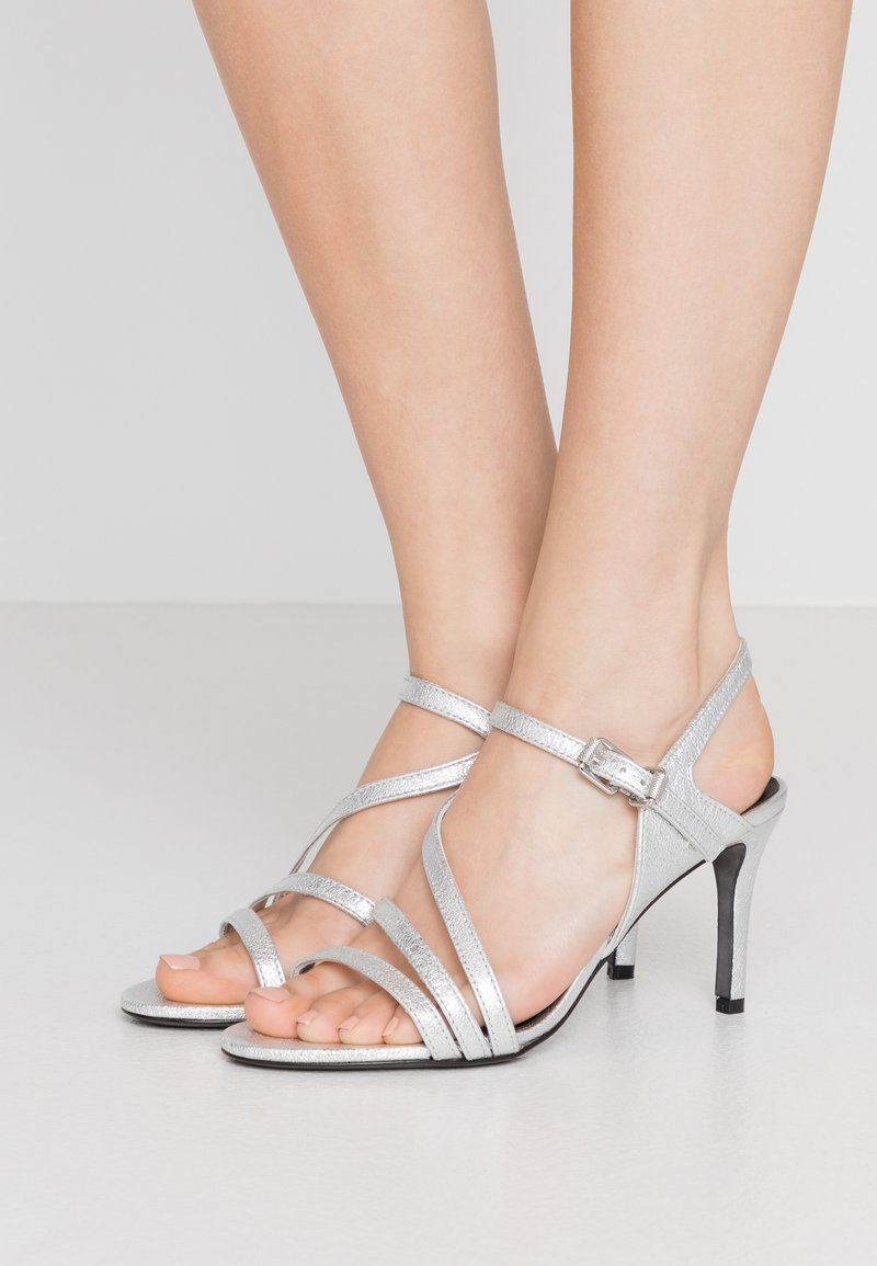 Zadig & Voltaire - MARYLIN METALIC - High heeled sandals - silver