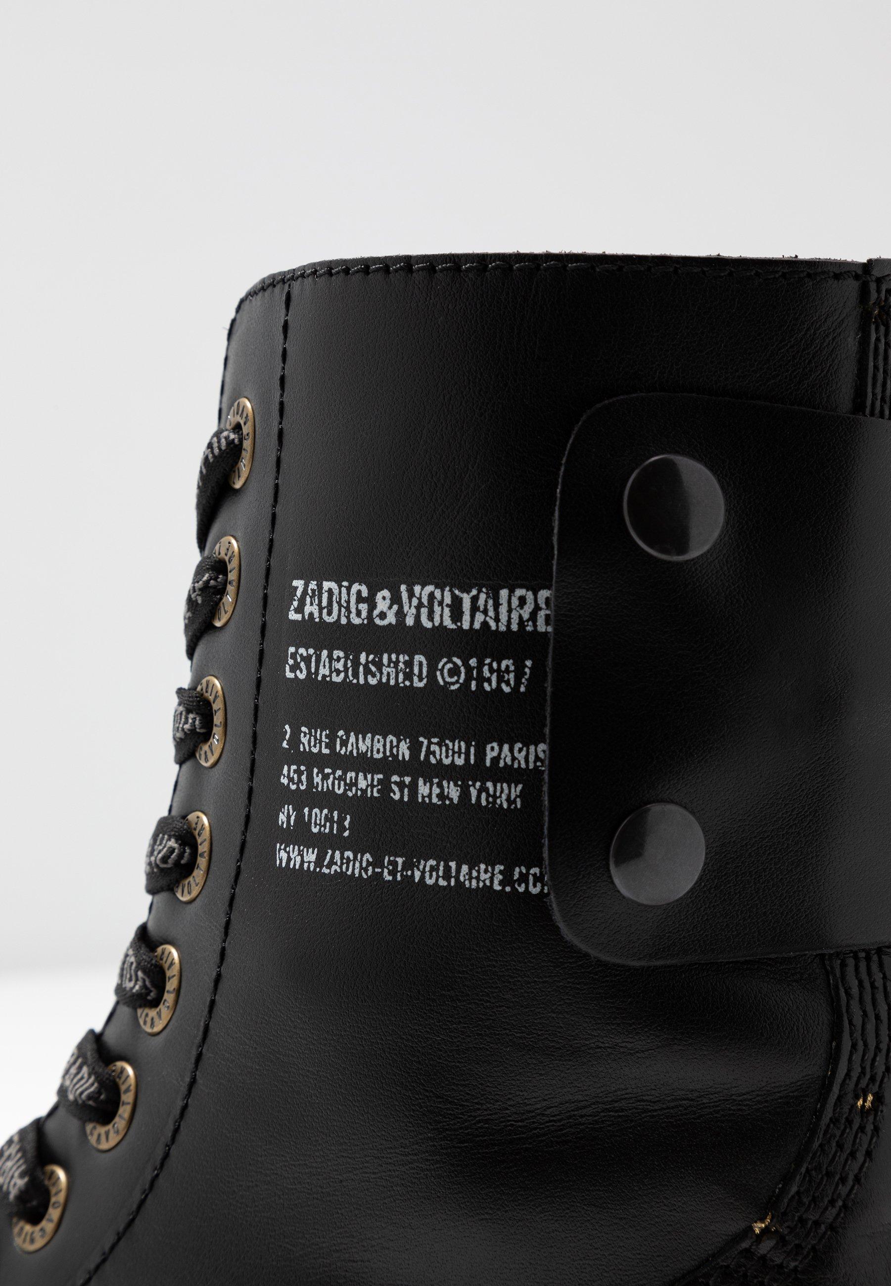 Zadig & Voltaire JOE STARS - Snörstövletter - noir