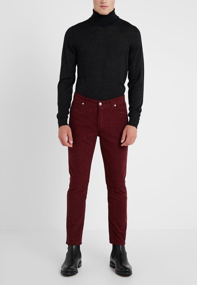DAVID  - Trousers - bordeaux