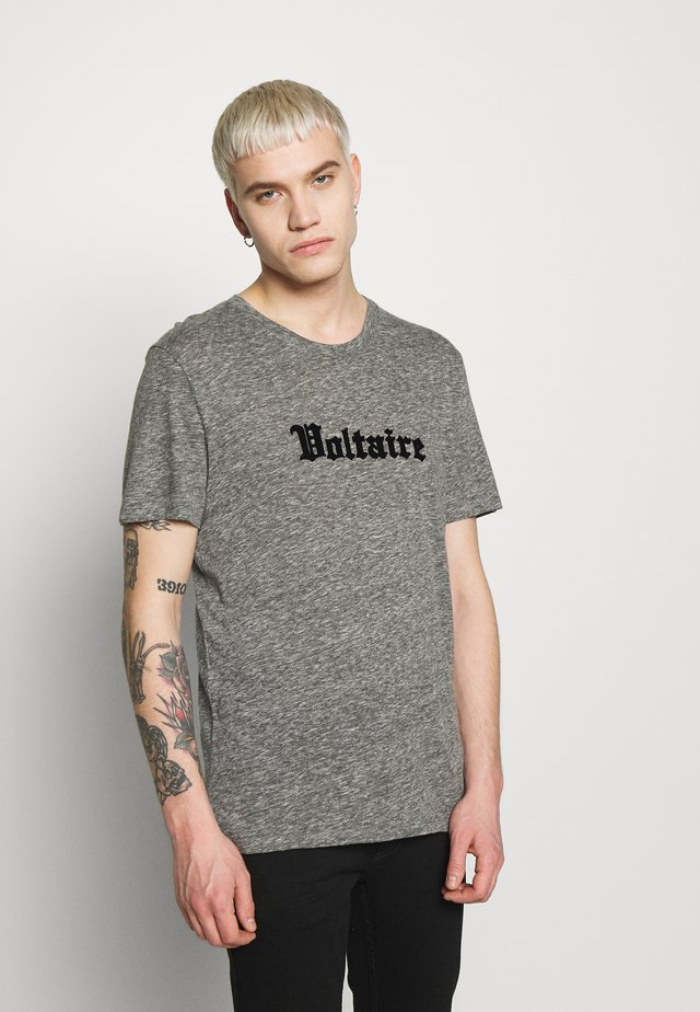 TED - T-shirts print - gris chine