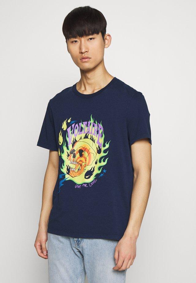 TOMMY FLAME - T-Shirt print - marine