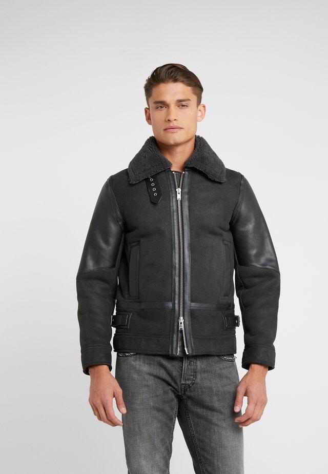 LOU - Leather jacket - gris