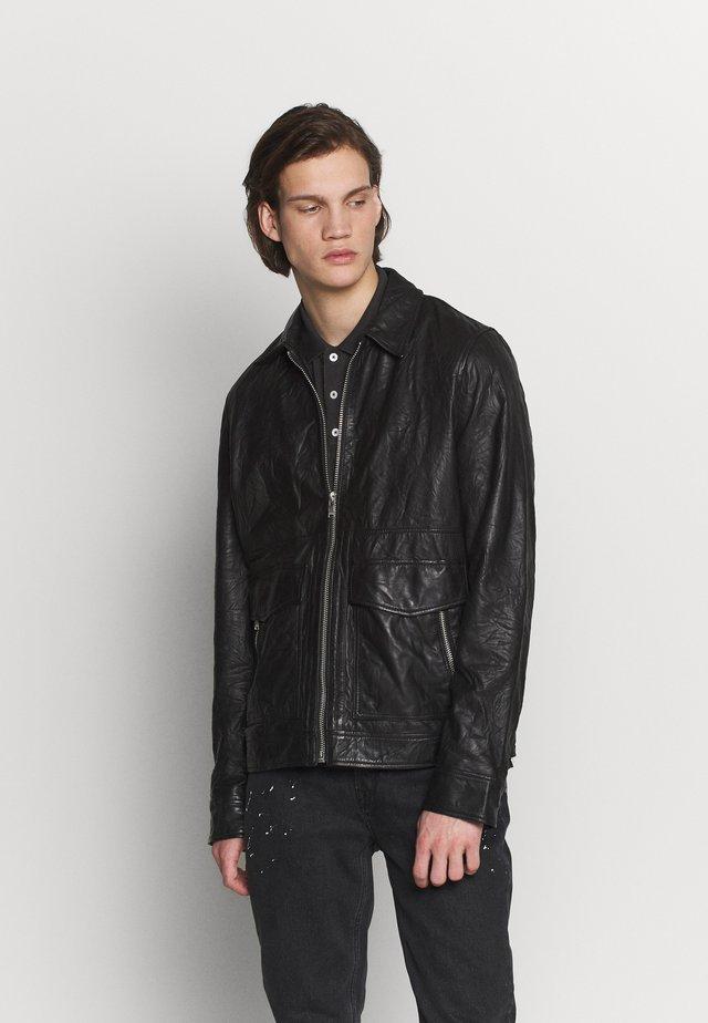 BOBY CRINKLE - Leather jacket - noir