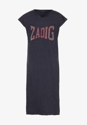 SHORT SLEEVED DRESS - Robe en jersey - slate blue