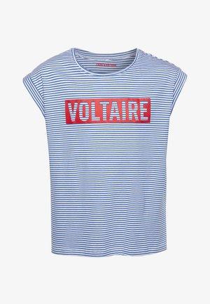SHORT SLEEVES  - Print T-shirt - white/blue