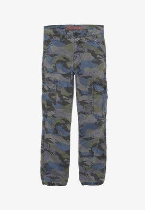 Pantalones cargo - grau/gruen