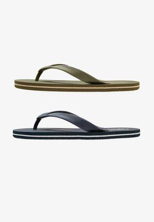 2 PACK - Pool shoes - oliv/dark blue