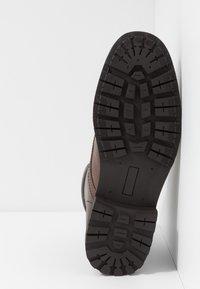 Zalando Essentials - Lace-up ankle boots - dark brown - 4