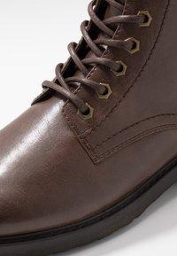 Zalando Essentials - Lace-up ankle boots - dark brown - 5
