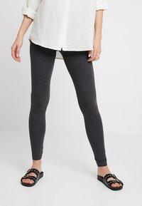 Zalando Essentials - 2 PACK - Leggings - Trousers - black/dark grey melange - 0