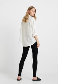 Zalando Essentials - 2 PACK - Leggings - Trousers - black/dark grey melange - 2