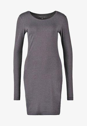Shift dress - dark grey melange