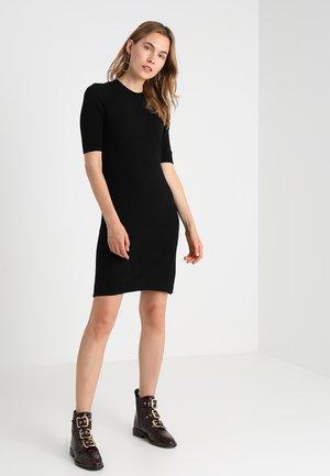 CASHMERE - Gebreide jurk - black