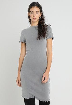 Žerzejové šaty - mottled grey